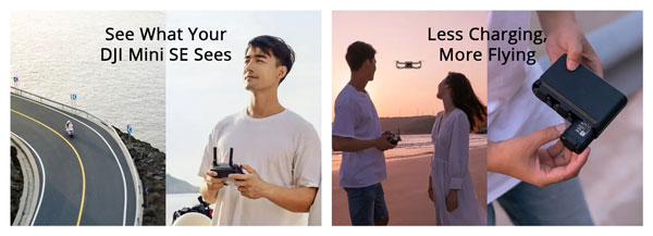 DJI Mini SE Descriptions - Remote Controller and Extended Flight Time