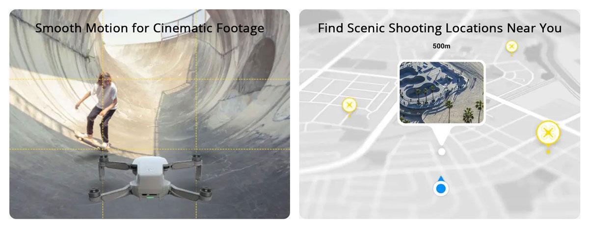 DJI Mini SE Descriptions - CineSmooth Mode and Discover Popular Spots