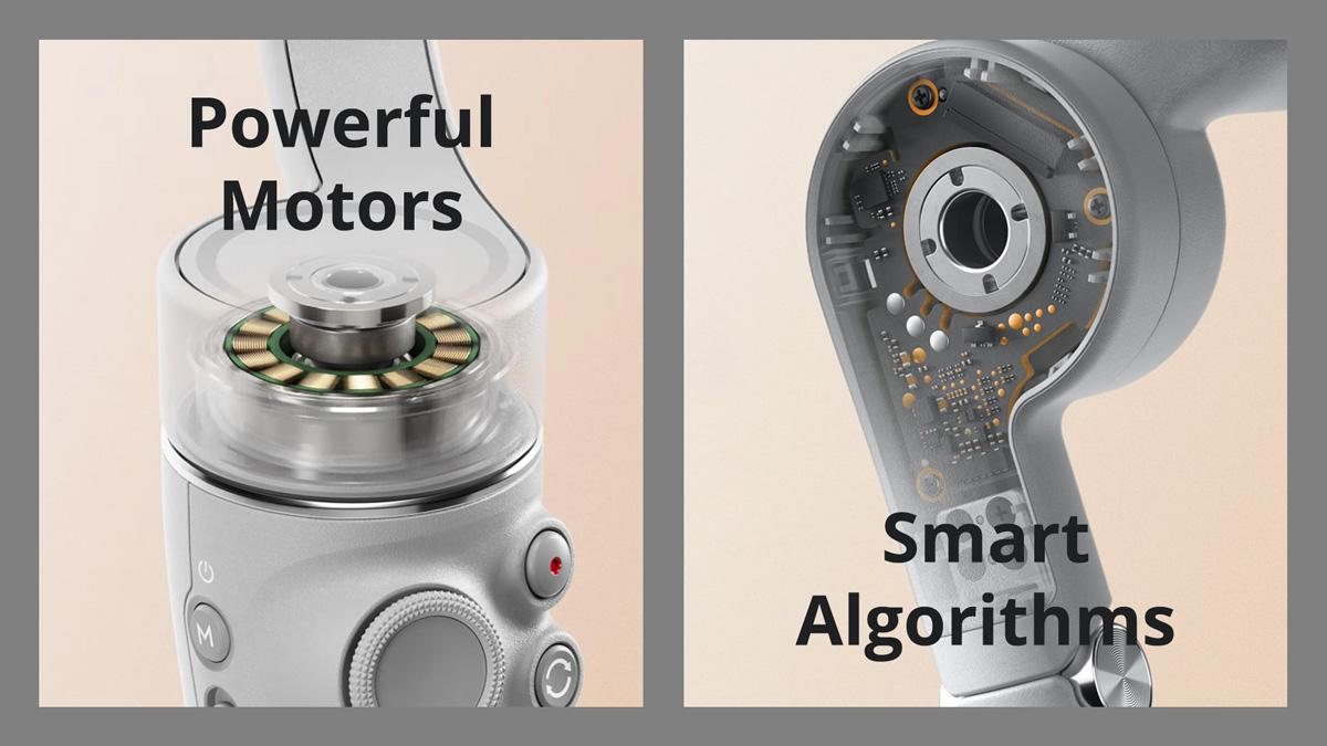 DJI OM 5 Descriptions - Powerful motors and smart algorithms