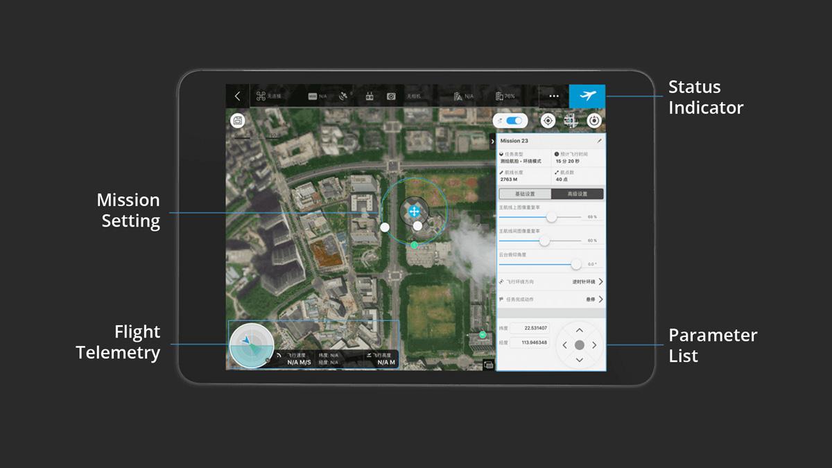 DJI GS PRO - 3D Map POI