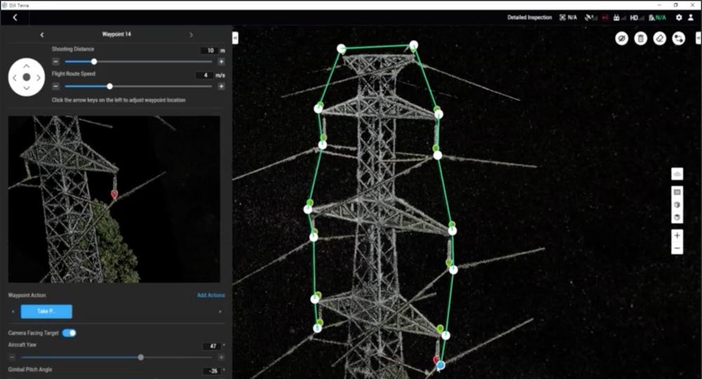 DJI Terra - Detailed Inspection Mission Planning