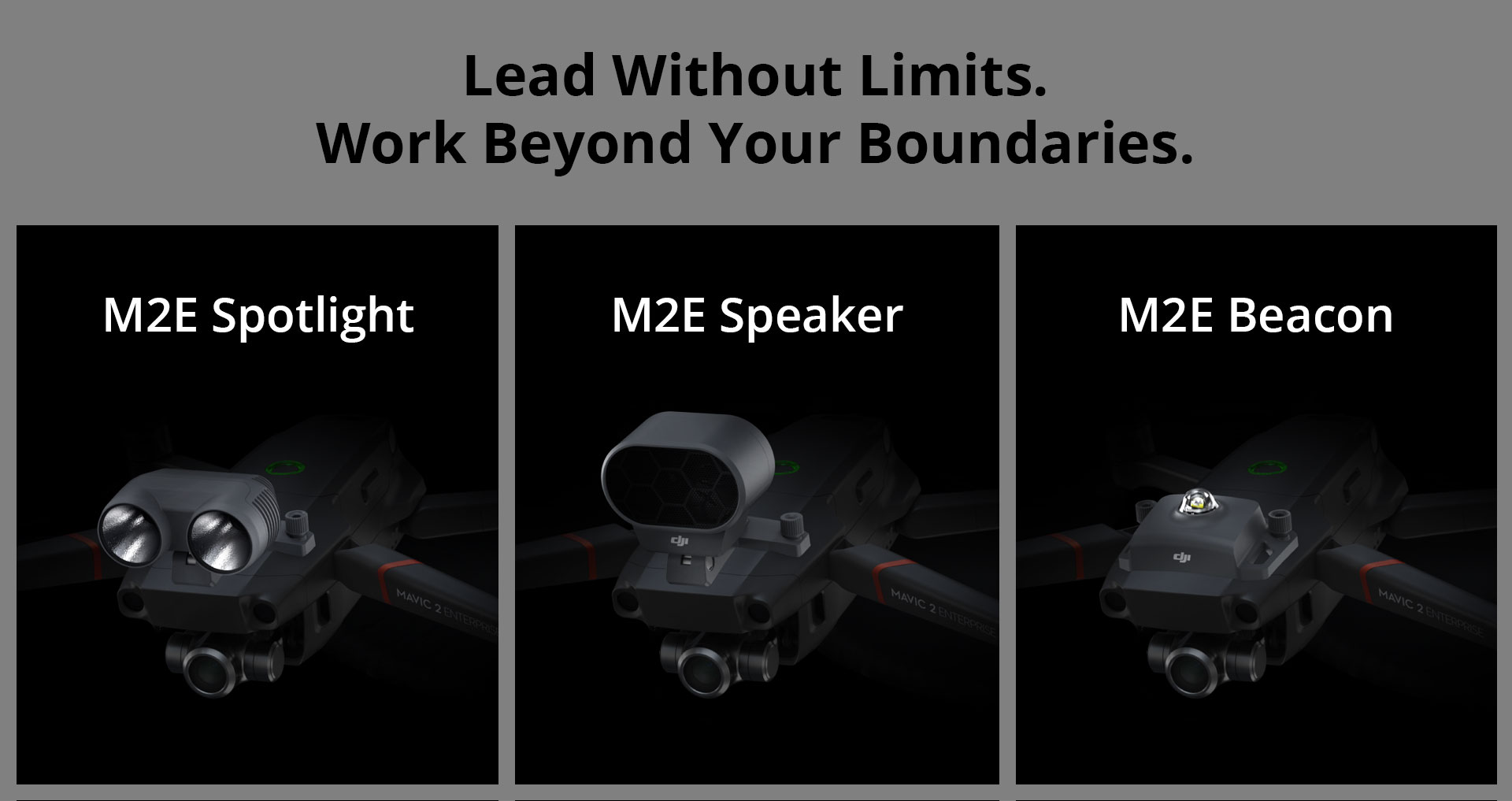 DJI Mavic 2 Enterprise Additional Devices Spotlight Speaker and Beacon