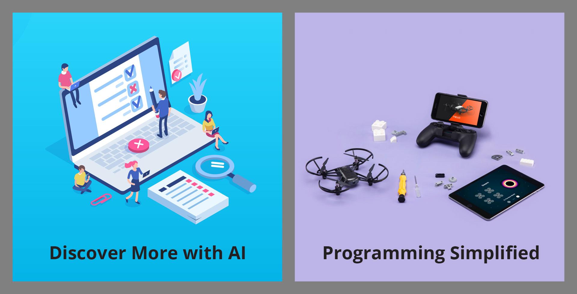 AI development and block programming with Tello EDU